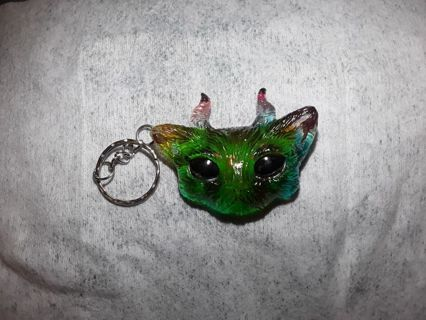 WHAT A AWESOME NEW FAUN KITTY KEY CHAIN! GIN BONUS!PLEASE READ!