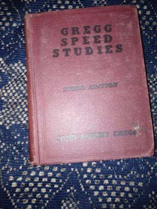 Gregg Speed Studies 3rd edition by John Robert Gregg