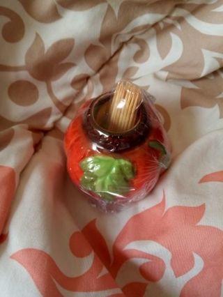 Pumpkin toothpick holder #1
