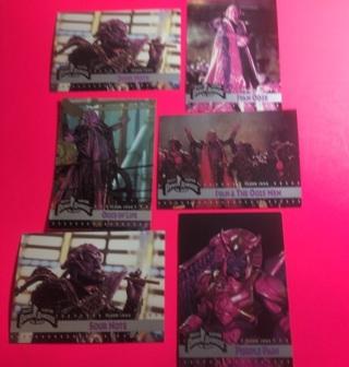 6 Power Rangers 1995 Ivan Ooze Cards! Goldar!