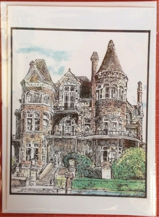 "VICTORIAN PALACE - 5 x 7"" Art Card by artist Nina Struthers - GIN ONLY"