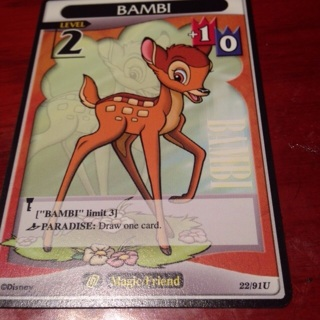 Kingdom Hearts TCG - Bambi Level 2 #22/91U