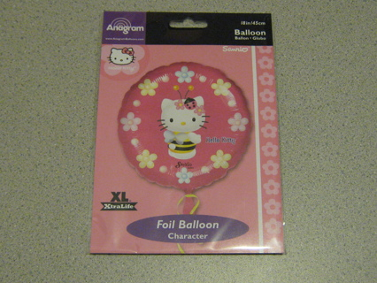 "Hello Kitty 18"" Foil Balloon!! Very Cute!!"