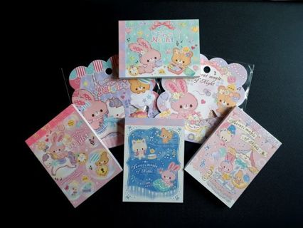 "Q-Lia ""Secret Magic Of Night"" ~ 4 Mini's, 2 Sticker Sacks & 16 Lg. Rare Memo Sheets ☆Kawaii Bonus☆"