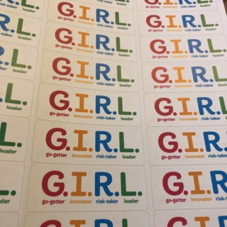 G.I.R.L Girl Scout labels