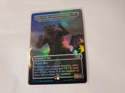 Magic the gathering mtg King Caesar Ancient Guardian foil card Ikoria