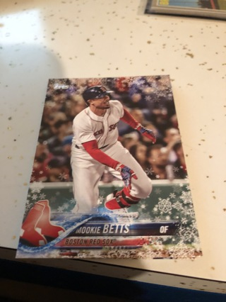 2018 topps holiday edition mookie betts