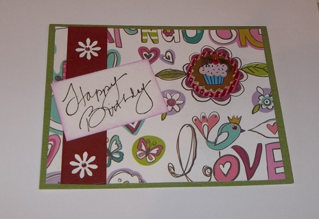 Free Female Happy Birthday Card Scrapbooking Paper Crafts