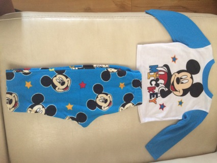 24M infants Disney Mickey Mouse pajama