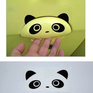 4PC Panda Eyes V1 PR Car Mirror Window Decals