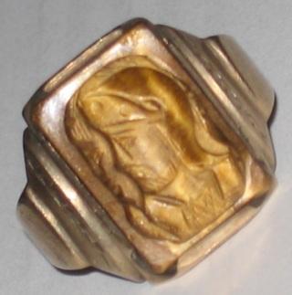 vintage art deco cameo ring