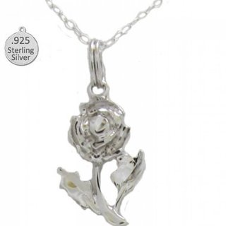 Sterling Silver Flower Pendant with 18 inch NEW