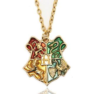 New Harry Potter Necklace Anime Hogwarts School Badge Pendant Necklace