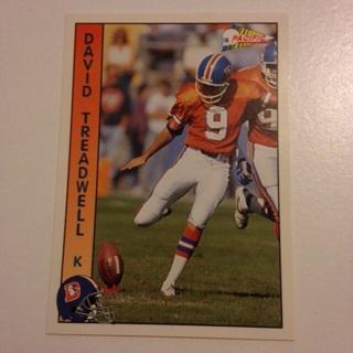 1992 Pacific Denver Broncos David Treadwell Football Card