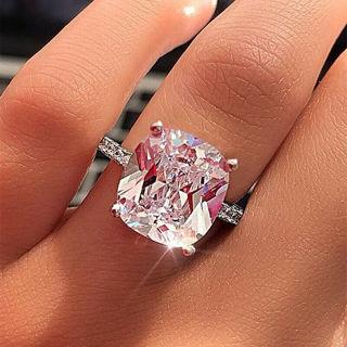 ✿Free Shipping✿ Sunshine Women Silver White Sapphire Rings x1pc