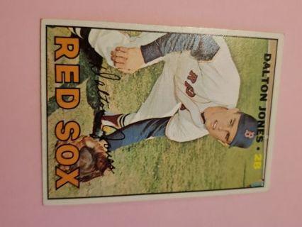 1967 Dalton Jones Boston red Sox vintage baseball card