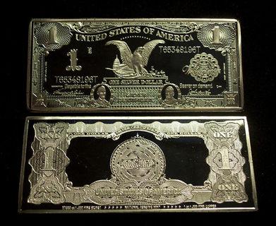 Free: 1 TROY OZ 1899 SERIES $1 BLACK EAGLE SILVER CERTIFICATE .999 ...