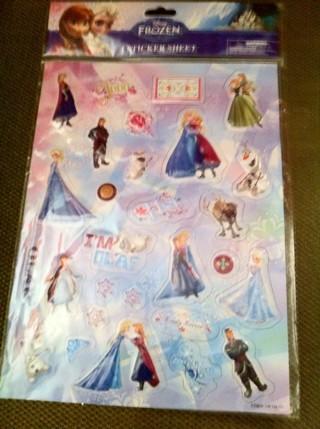 NIP Disney Frozen Puffy Sticker Sheet!