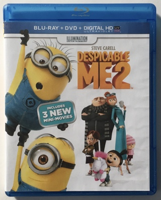 Despicable Me 2 Blu-ray / DVD Movie 2-Disc Combo Pack - Great Condition!
