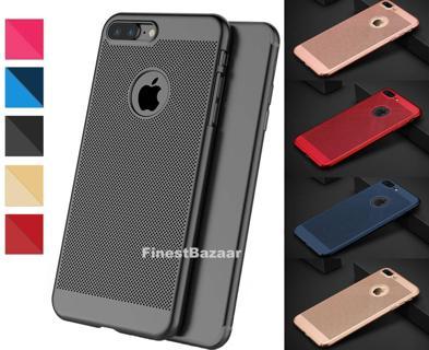 Luxury Ultra Thin Slim PC Mesh Hard Back Case Cover Apple iPhone 10 X 8 7 6s 5s