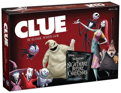 1 new game clue tim burtons the nightmare before christmas board game free shipping - The Nightmare Before Christmas Games