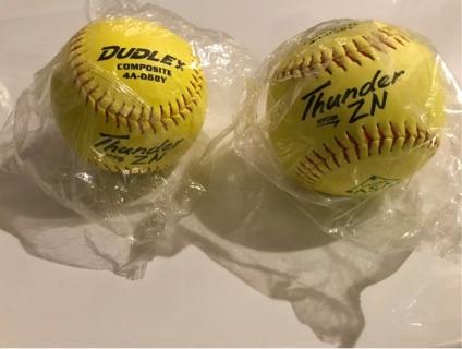 Pair of softballs