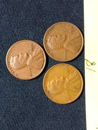 3 Wheat Pennies