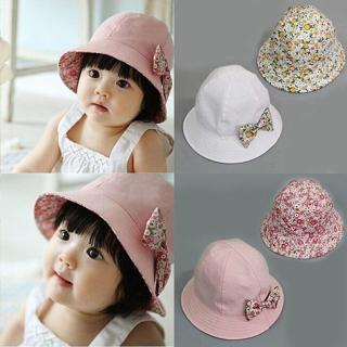 Newborn Baby Girls Kids Summer Princess Infant Flower Sun Cap Cotton Bucket Hat