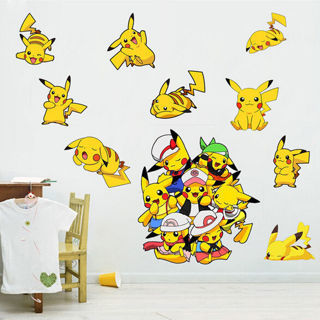 Pokemon Go Pikachu Mural Wall Decals Sticker Kids Room Decor Removable Vinyl