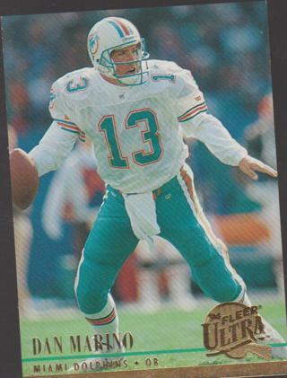 1994 Ultra Football Card #179 Dan Marino