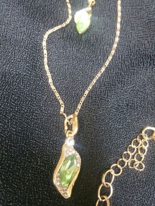 3 PIECE JEWELRY SET, PRETTY LIGHT GREEN COLOR (FREE SHIPPING )