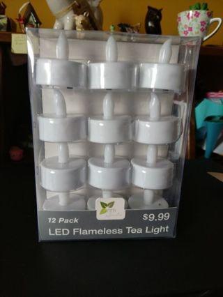 NIP! 12 LED Tea Lights