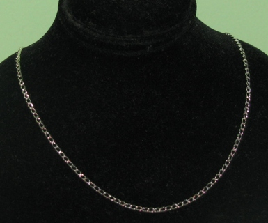 New silver tone 18 inch necklace