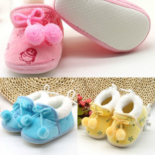 Small Cute Ball Warm Baby Boots For 0-18 Months First Walkers Autumn Winter Boys Girls Cotton Soft
