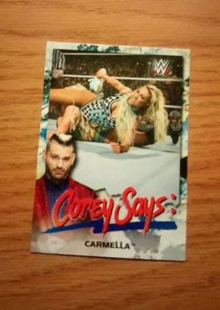 WWE 2019 Smackdown Live Carmella Corey Says Insert Card