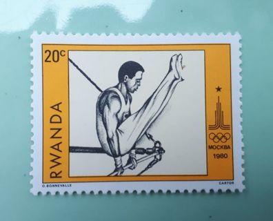 *( MINT )* 1960 * RWANDA * Stamp ( MOSCOW OLYMPICS ) *(Please Read Details)*