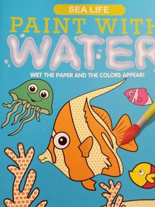SEA LIFE PAINT WITH WATER BOOK