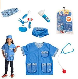 Dress 2 Play Pretend Animal Dr. Costume, with Accessories
