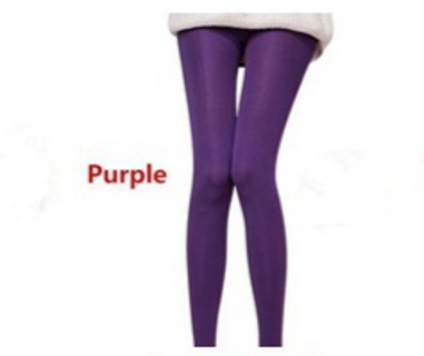 Purple One Size Leggings / Tights. Thick & Soft. New, in package.