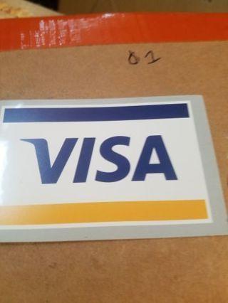 Small visa decal