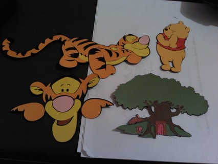 Your Choose 1 (Height 4 in) layered die cut outs from pictures. :-)