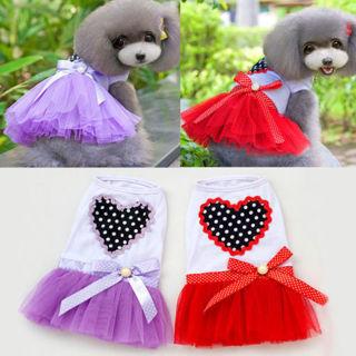 [GIN FOR FREE SHIPPING] Puppy Dog Cat Lace Skirt Princess Tutu Dress