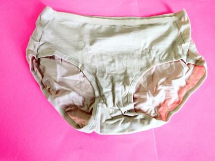 1 New Women's Hanes Cotton Stretch Pantie - Size 8 - Beige