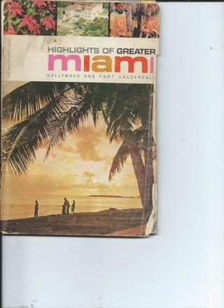 Highlights of Greater Miami Vintage Guide Book