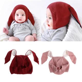 New Cute Rabbit Ears Baby Boy Girl Warm Beanie Infant Toddler Kids Knit Hat Cap