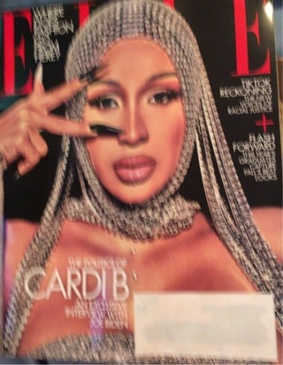 """The Politics of CARDI B, An Interview with JOE BIDEN"" ELLE Magazine - September 2020 - Ships FREE!!"