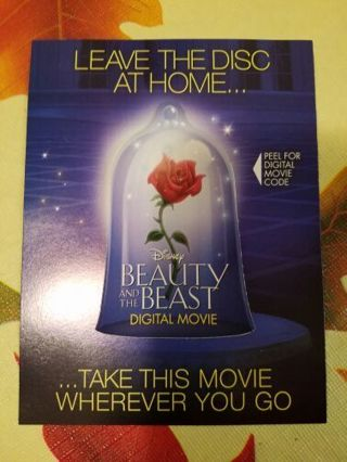 Beauty and the Beast Digital Movie Code