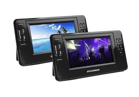 Sylvania 7-Inch Twin Mobile Dual Screen/Dual DVD Portable Player  (Used)