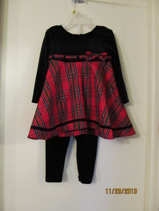 LITTLE GIRLS CHRISTMAS OUTFIT~SIZE 18M