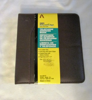 free apego ring binder phone address book brown other home